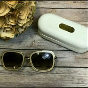 Chloe Cream Colored Gold Tone Sunglasses CL2148